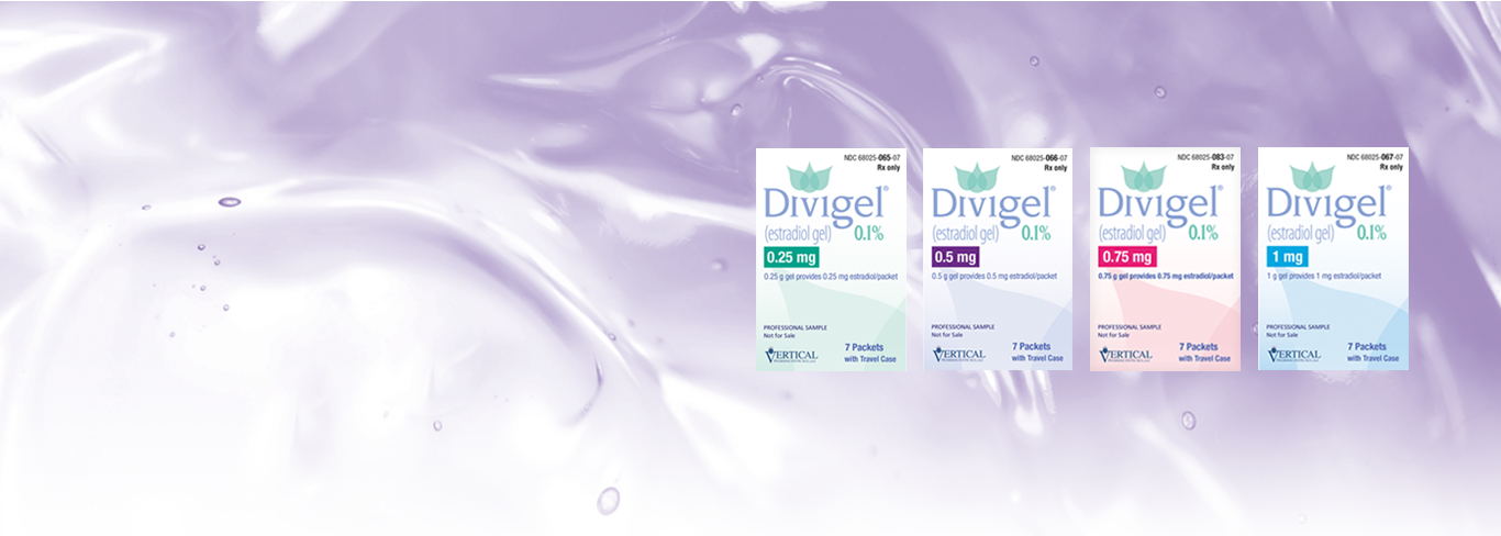Divigel® comes in 0.25 mg, 0.5 mg, 0.75 mg and 1 mg.